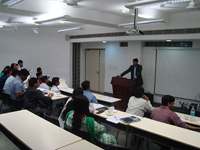 Speaking at Institute of Health Management Research, Dwarka